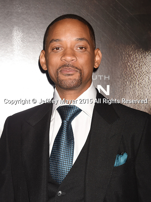 WESTWOOD, CA - NOVEMBER 23: Actor Will Smith attends the screening of Columbia Pictures' 'Concussion' at the Regency Village Theater on November 23, 2015 in Westwood, California.