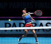 8th November 2019; RAC Arena, Perth, Western Australia, Australia; Fed Cup by BNP Paribas Final Tennis, Australia versus France, Practice Day; Caroline Garcia of France plays a forehand shot during practise - Editorial Use