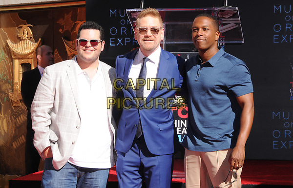 26 October  2017 - Hollywood, California - Josh Gad, Kenneth Branagh, Leslie Odom Jr.. Kenneth Branagh Handprint-Footprint in Cement Ceremony held at TCL Chinese Theatre IMAX in Hollywood.  <br /> CAP/ADM/BT<br /> &copy;BT/ADM/Capital Pictures