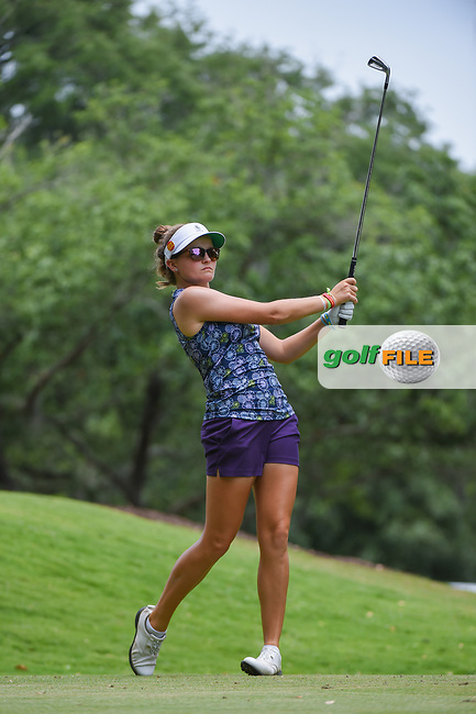 Fatima Fernandez Cano (ESP) watches her tee shot on 11 during round 2 of the 2019 US Women's Open, Charleston Country Club, Charleston, South Carolina,  USA. 5/31/2019.<br /> Picture: Golffile | Ken Murray<br /> <br /> All photo usage must carry mandatory copyright credit (© Golffile | Ken Murray)