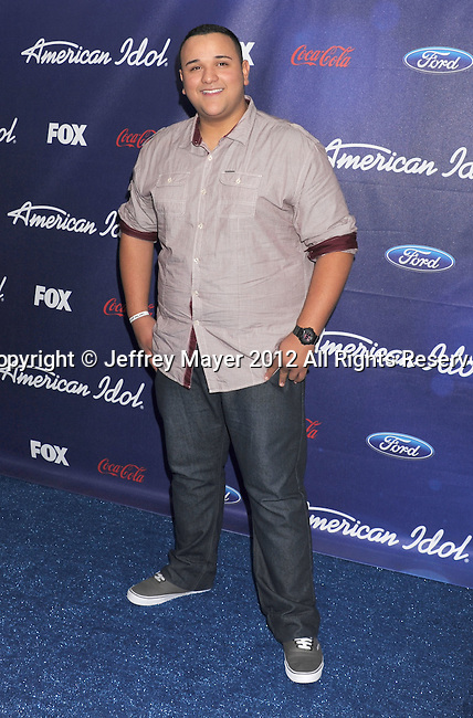 LOS ANGELES, CA - MARCH 01: Jeremy Rosado arrives at the American Idol Finalists party at The Grove Parking Structure Rooftop on March 1, 2012 in Los Angeles, California.