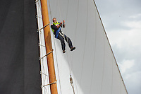 ZEILEN: LANGWEER: Langwarder Wielen, 04-08-2016, SKS Skûtsjesilen, Anne Tjerkstra (Grouster skûtsje), ©foto Martin de Jong