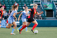 Rochester, NY - Friday July 01, 2016: Western New York Flash defender Abigail Dahlkemper (13), Chicago Red Stars midfielder Amanda Da Costa (13), Chicago Red Stars forward Sofia Huerta (11) during a regular season National Women's Soccer League (NWSL) match between the Western New York Flash and the Chicago Red Stars at Rochester Rhinos Stadium.