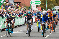 Picture by Alex Whitehead/SWpix.com - 06/09/2017 - Cycling - OVO Energy Tour of Britain - Stage 4, Mansfield to Newark-on-Trent - Fernando Gaviria of Quick-Step Floors wins in a sprint finish.