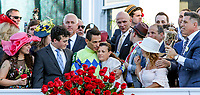 LOUISVILLE, KY - MAY 06: Connections celebrate after  Always Dreaming #5 won the Kentucky Derby on Kentucky Derby Day at Churchill Downs on May 6, 2017 in Louisville, Kentucky. (Photo by Candice Chavez/Eclipse Sportswire/Getty Images)