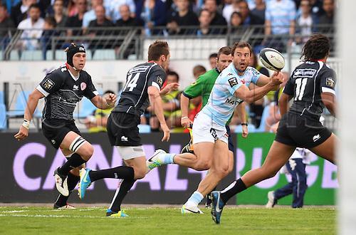 12.04.2014. Paris, France. Top 14 Rugby Union. Racing Metro versus Biarritz.  Juan Martin Hernandez (rm)