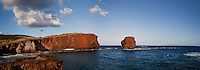 Sweetheart Rock, or Pu'u Pehe Rock, one of Lanai's legendary tourist attractions, near Hulopo'e Bay