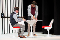 Gabido Diego and Antonio Garrido at &quot;Nuestras Mujeres&quot; Theater play in Latina Theater, Madrid, Spain, September 01, 2015. <br /> (ALTERPHOTOS/BorjaB.Hojas)