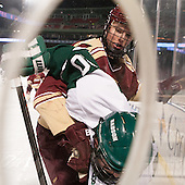 Jimmy Magrath (Babson - 20), Erik Lyrvall (Norwich - 4) - The Norwich University Cadets defeated the Babson College Beavers 1-0 on Thursday, January 9, 2014, at Fenway Park in Boston, Massachusetts.
