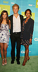 Guiding Light's Sharon Leal in in the new Hellcats with castmates Ashley Tisdale, Matt Barr at The CW Upfront 2010 green carpet arrivals on May 20, 2010 at Madison Square Gardens, New York, New York. (Photo by Sue Coflin/Max Photos)