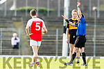 Colm Cooper Dr Crokes receives a black card followed by a red in the Senior County Football Semi Final in Fitzgerald Stadium on Sunday.
