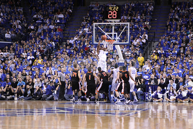 UK forward Terrence Jones dunks the ball against Pikeville College at Rupp Arena on Monday, Nov. 1, 2010. Photo by Scott Hannigan | Staff