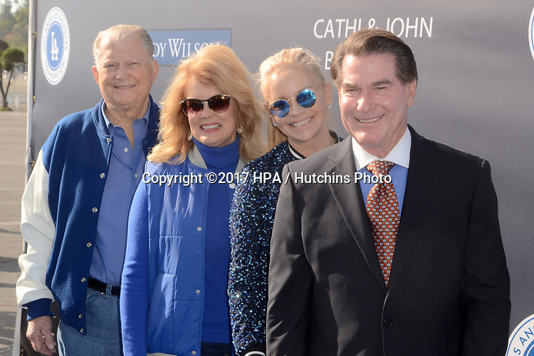 LOS ANGELES - JUN 8:  Burt Sugarman, Mary Hart, Guest, Steve Garvey at the Los Angeles Dodgers Foundations 3rd Annual Blue Diamond Gala at the Dodger Stadium on June 8, 2017 in Los Angeles, CA