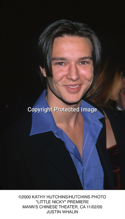 "©2000 KATHY HUTCHINS/HUTCHINS PHOTO.""LITTLE NICKY"" PREMIERE.MANN'S CHINESE THEATER, CA 11/02/00.JUSTIN WHALIN"
