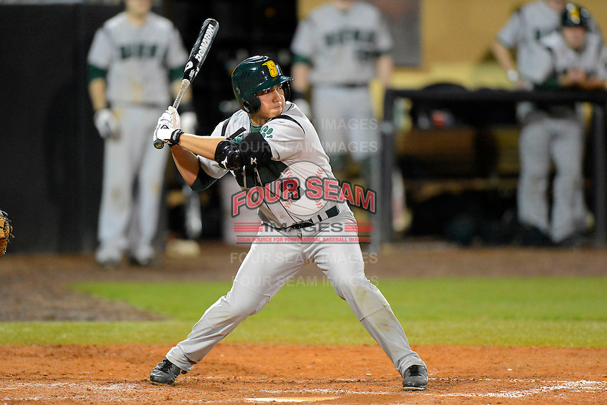 Siena Saints outfielder Andres Ortiz #3 during a game against the Central Florida Knights at Jay Bergman Field on February 15, 2013 in Orlando, Florida.  UCF defeated Siena 7-1.  (Mike Janes/Four Seam Images)
