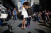 A woman dressing up for Easter takes part during the annual easter parade in Manhattan, New York City, 03.27.2016. This annual tradition has been taking place in New York City for over 100 years, Photo by VIEWpress.