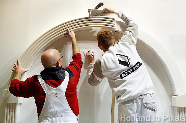 Skills Masters beurs in Rotterdam Ahoy. Banenbeurs/ Beroepskeuze beurs voor VMBO , MBO en lagere school  leerlingen. Leerlingen kunnen kennismaken met diverse beroepen. Vakwedstrijd voor stukadoors