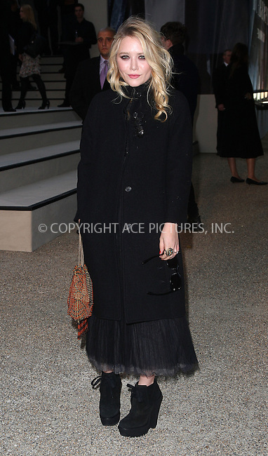 WWW.ACEPIXS.COM . . . . .  ..... . . . . US SALES ONLY . . . . .....September 22 2009, London....Mary-Kate Olsen at the Burberry Spring/Summer 2010 show at London Fashion Week on September 22, 2009 in London....Please byline: FAMOUS-ACE PICTURES... . . . .  ....Ace Pictures, Inc:  ..tel: (212) 243 8787 or (646) 769 0430..e-mail: info@acepixs.com..web: http://www.acepixs.com