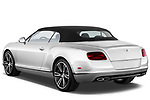 Rear three quarter view of a 2013 - 2014 Bentley Continental GTC Convertible.
