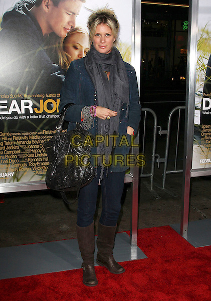 "RACHEL HUNTER .""Dear John"" Los Angeles Premiere held At The Grauman's Chinese Theater, Hollywood, California, USA,.1st February 2010..arrivals full length jeans brown flat knee high boots jacket bag scarf black grey gray denim .CAP/ADM/KB.©Kevan Brooks/AdMedia/Capital Pictures."