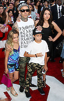WESTWOOD, LOS ANGELES, CA, USA - JUNE 10: Travis Barker at the World Premiere Of Columbia Pictures' '22 Jump Street' held at the Regency Village Theatre on June 10, 2014 in Westwood, Los Angeles, California, United States. (Photo by Xavier Collin/Celebrity Monitor)