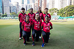 Players of Hong Kong Women's Team pose for a photo during Day 2 of Hong Kong Cricket World Sixes 2017 match between Hong Kong Women's Team vs The Dragons Team at Kowloon Cricket Club on 29 October 2017, in Hong Kong, China. Photo by Yu Chun Christopher Wong / Power Sport Images