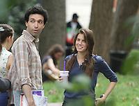 July 31,  2012 Adam Sackler, Marnie Michaels visit on location for HBO series Girls at Washington Square Park in New York City.Credit:© RW/MediaPunch Inc. /NortePhoto.com<br /> <br /> **SOLO*VENTA*EN*MEXICO**<br /> **CREDITO*OBLIGATORIO** <br /> *No*Venta*A*Terceros*<br /> *No*Sale*So*third*<br /> *** No Se Permite Hacer Archivo**<br /> *No*Sale*So*third*