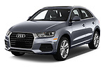 2018 Audi Q3  2.0T-FWD-tiptronic-Premium-Plus  5 Door SUV angular front stock photos of front three quarter view
