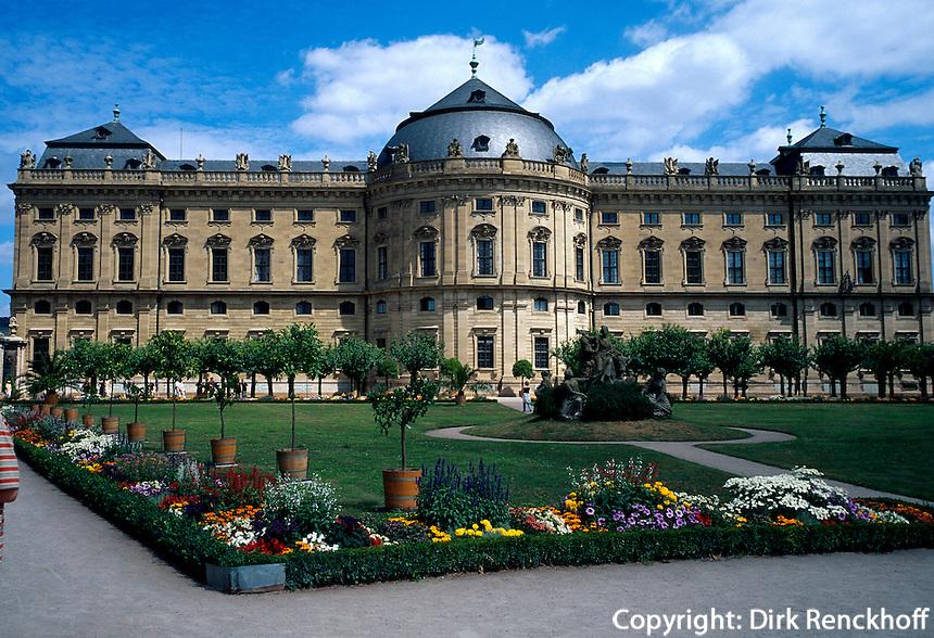 Residenz in Würzburg. Bayern, Deutschland, Unesco-Weltkulturerbe