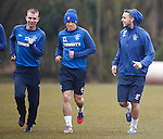 Fraser Aird has it licked as Andy Mitchell and Chris Hegarty have a laugh