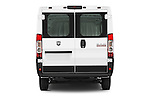 Straight rear view of a 2014 Ram ProMaster 1500 118 WB Low Roof 2 Door Cargo Van stock images