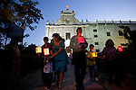 Our Lady of Fatima Procession is held every 13th May and 13th Otober in Diu, from St. Paul's Church. The 48 Catholic families of Diu honour the visions of three young children in Fatima, Portugal who saw the Virgin Mary on the 13th day of each month from May to October in 1917. <br /> St. Paul's Church is dedicated to Our Lady of Immaculate Conception, and construction was completed in 1610. It's interiors are decorated with shell-like motifs, and it's wood carving is considered to be the finest of all the Portuguese Churches in India.