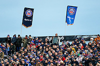 A general view of Bath supporters in the crowd. European Rugby Champions Cup match, between Bath Rugby and Leinster Rugby on November 21, 2015 at the Recreation Ground in Bath, England. Photo by: Rogan Thomson / JMP for Onside Images