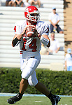 02 September 2006: Rutgers quarterback Mike Teel. The University of North Carolina Tarheels lost 21-16 to the Rutgers Scarlett Knights at Kenan Stadium in Chapel Hill, North Carolina in an NCAA Division I College Football game.