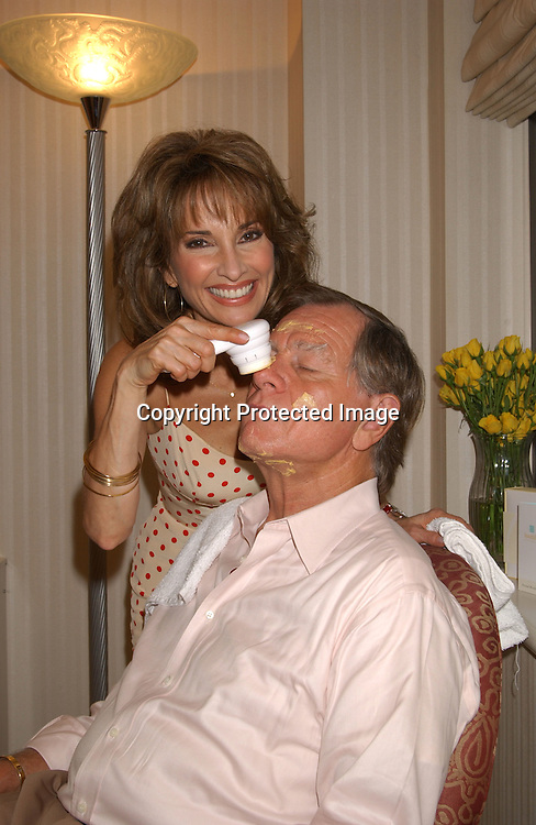 ..Susan Lucci & husband Helmet Huber getting a facial ..at press event for Youthful Essence, the new complete personal microdermabrasion system on June 4,2003 at the ..Benjamin Hotel.  Photo by Robin Platzer, Twin Images