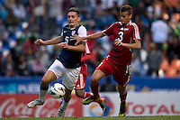SHANE ONEILL Y EMMANUEL LABRADA PUEBLA -Mexico, March 1, 2013: The U.S. Under-20 Men's National Team advanced to the title match of the 2013 CONCACAF U-20 Championship with a 2-0 victory against Cuba at Estadio Cuauhtémoc. Mario Rodriguez and Daniel Cuevas scored three minutes apart and Cody Cropper recorded his second shutout of the tournament in putting the U.S. through to the final.
