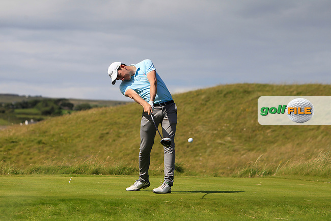 Richard Knightly (The Royal Dublin) on the 14th tee during Round 2 of the South of Ireland Amateur Open Championship at LaHinch Golf Club on Thursday 23rd July 2015.<br /> Picture:  Golffile | Thos Caffrey