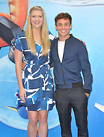 Rebecca Adlington &amp; Tom Daley at the &quot;Finding Dory&quot; UK film premiere, Odeon Leicester Square cinema, Leicester Square, London, England, UK, on Sunday 10 July 2016.<br /> CAP/CAN<br /> &copy;CAN/Capital Pictures ***USA and South America Only**