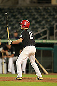Infielder Josh Pagliei (2) of Pedro Menendez High School participates in the Team One Futures Game East at Roger Dean Stadium on September 25, 2010 in Jupiter, Florida..  (Copyright Mike Janes Photography)