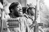 July 1975, Angola --- Jonas Savimbi, leader of the National Union for the Total Independence of Angola (UNITA) in South Angola. | Location: Sa da Bandeira, Angola. --- Image by © JP Laffont