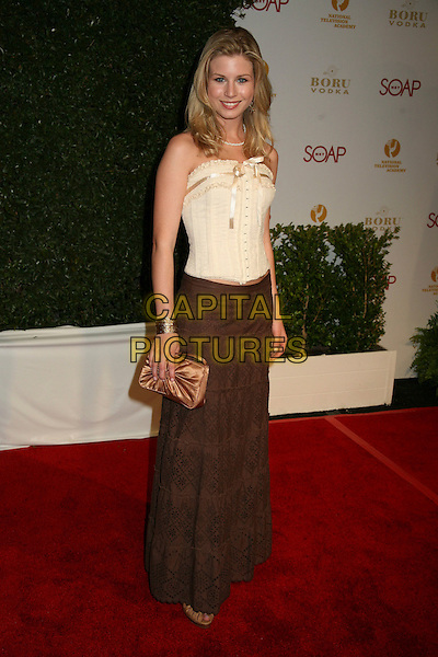 "STEPHANIE GATSCHE.""Daytime Emmy Nominee Party"" Presented by SoapNet held at The Hollywood Roosevelt Hotel, Holywood, California, USA..April 27th, 2006.Photo: Byron Purvis/AdMedia/Capital Pictures.Ref: BP/ADM.full length brown skirt beige corset .www.capitalpictures.com.sales@capitalpictures.com.© Capital Pictures."
