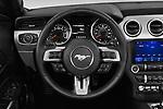 Car pictures of steering wheel view of a 2020 Ford Mustang EcoBoost-Premium 2 Door Convertible Steering Wheel