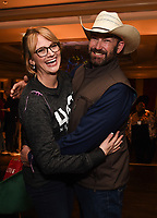 PASADENA, CA - JANUARY 17: Heartland Docs, DVM's Dr. Erin Schroeder (L) and Ben Schroeder (R) attend the National Geographic 2020 TCA Winter Press Tour Party at the Langham Huntington on January 17, 2020 in Pasadena, California. (Photo by Frank Micelotta/National Geographic/PictureGroup)