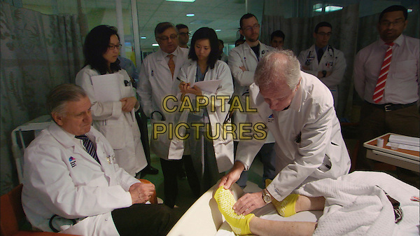 Making Rounds (2015) <br /> Dr. Valentin Fuster &amp; Dr. Herschel Sklaroff teach residents the art of a bedside exam in the Cardiac Care Unit at Mount Sinai Hospital in New York City.<br /> *Filmstill - Editorial Use Only*<br /> CAP/KFS<br /> Image supplied by Capital Pictures