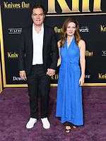 "14 November 2019 - Westwood, California - Michael Shannon, Kate Arrington. ""Knives Out"" Los Angeles Premiere held at Regency Village Theater. Photo Credit: Birdie Thompson/AdMedia"