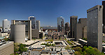 Toronto downtown panarama Old and New City Hall Nathan Phillips square aerial view