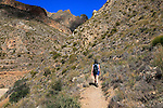 Woman walking Ruta del Agua to Huebro, <br />