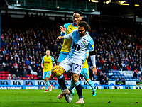 Blackburn Rovers' Bradley Dack shields the ball from Rotherham United's Zak Vyner<br /> <br /> Photographer Alex Dodd/CameraSport<br /> <br /> The EFL Sky Bet Championship - Blackburn Rovers v Rotherham United - Saturday 10th November 2018 - Ewood Park - Blackburn<br /> <br /> World Copyright &copy; 2018 CameraSport. All rights reserved. 43 Linden Ave. Countesthorpe. Leicester. England. LE8 5PG - Tel: +44 (0) 116 277 4147 - admin@camerasport.com - www.camerasport.com