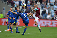 Pablo Zabaleta of West Ham and Leighton Baines during West Ham United vs Everton, Premier League Football at The London Stadium on 13th May 2018