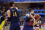 XXXVIII Lliga Nacional Catalana ACB 2017.<br /> FC Barcelona Lassa vs BC Morabanc Andorra: 89-70<br /> Moussa Diagne, Ante Tomic &amp; Adrien Moerman.